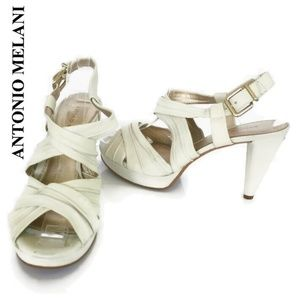 Antonio Melani Platform Sandal Heels Cream size 9